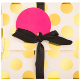 White & Gold Polka Dot Gift Card Holder