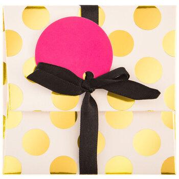 White & Gold Polka Dot Gift Card Holder