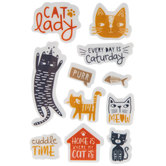 Cat Lady Cling Stamps