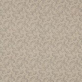 Gold & Brown Paisley Cotton Calico Fabric