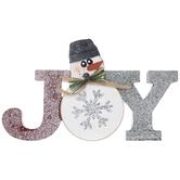 Joy Snowman Wood Decor