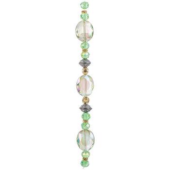 Mint Mixed Media Glass Bead Strand