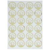 Gold Nativity Envelope Seals