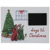 Days Til Christmas Countdown Chalkboard Wood Decor