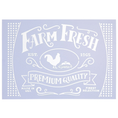 Farm Fresh Rooster Stencil