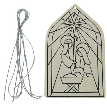 Nativity Wood Ornament Craft Kit