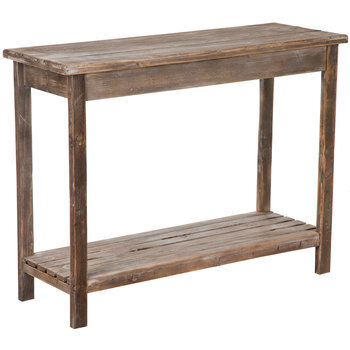 Rustic Slatted Side Table