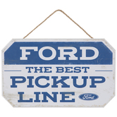 Ford Pickup Line Wood Wall Decor