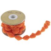 "Orange Pom Pom Ribbon - 5/8"""