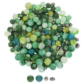 Green & Metallic Bead Mix