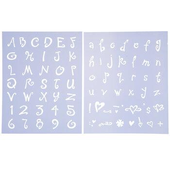 """Sophie Alphabet Stencils - 1"""""""
