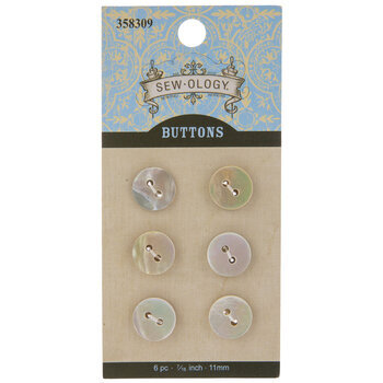 Round Shell Buttons