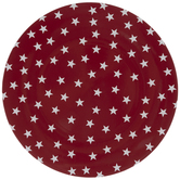 Red & White Stars Plate Charger