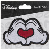 Mickey Mouse Hands Heart Iron-On Applique