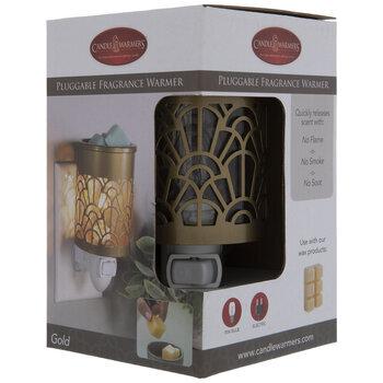 Gold Art Deco Plug In Fragrance Warmer