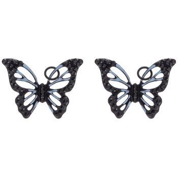 Black Rhinestone Butterfly Charms