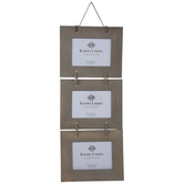 Gray Washed Wood Wall Collage Frame