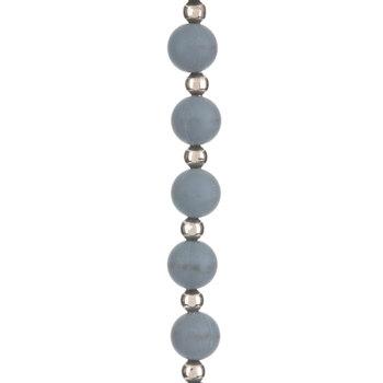 Gray Round Silicone Bead Strand - 8mm
