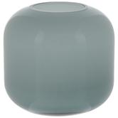 Blue Round Mini Glass Vase