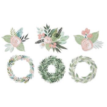 Pastel Flower & Wreath Stickers