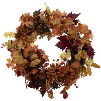 Orange Fall Mix Wreath