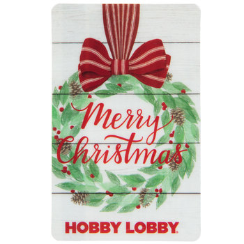 Merry Christmas Wreath Gift Card