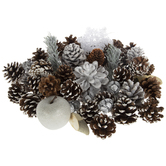 Snowflake & Frosted Pinecone Mix