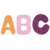 Glitter Letter Foam Stickers
