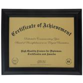 """Black Beveled Wood Wall Frame - 11"""" x 8 1/2"""""""