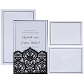 Black & White Damask Wedding Invitations