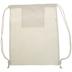 Natural Canvas Drawstring Backpack