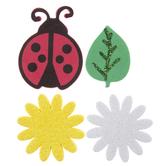 Ladybug & Flower Foam Stickers