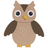 Brown Owl Painted Wood Shape