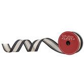 """Metallic Gold & Black Wired Edge Sheer Ribbon - 1 1/2"""""""