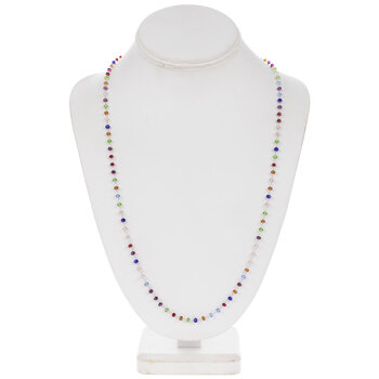 Multi-Color Glass Bead Necklace