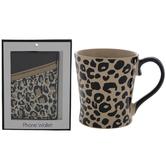 Leopard Print Mug & Phone Wallet