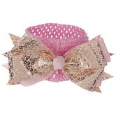 Pink & Gold Leopard Print Bow Headband