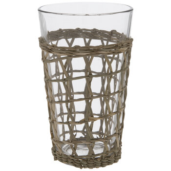 Seagrass Wicker Glass
