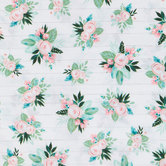 Rose & Lamb's Ear Shiplap Apparel Fabric