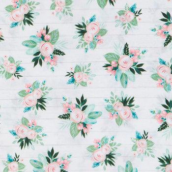 Rose & Lamb's Ear Shiplap Apparel Fabric