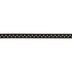 Black & Gold Polka Dot Grosgrain Ribbon - 3/8