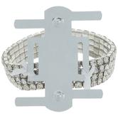 Clear & Silver Rhinestone Wristlet