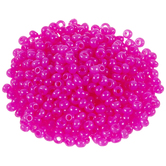 Hot Pink Alabaster Czech Glass Seed Beads - 8/0