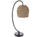 Light Brown Woven Rattan Lamp
