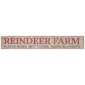 Reindeer Farm Wood Wall Decor