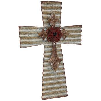 Galvanized Layered Metal Wall Cross