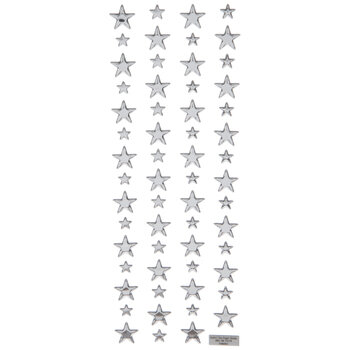 Silver Star Puffy Stickers