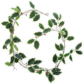 White Frosted Holly Garland