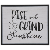 Rise & Grind Sunshine Wood Decor