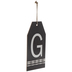 Plaid Tag Letter Wood Wall Decor - G